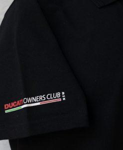 Ducati History Polo Shirt Black Logo