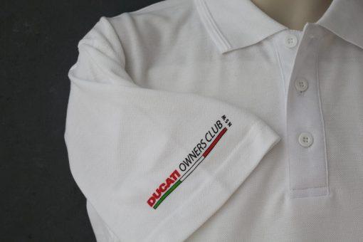 Ducati History Polo Shirt White Logo