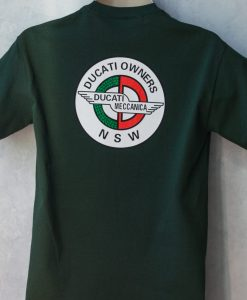 Ducati History T-shirt Dark Green Back